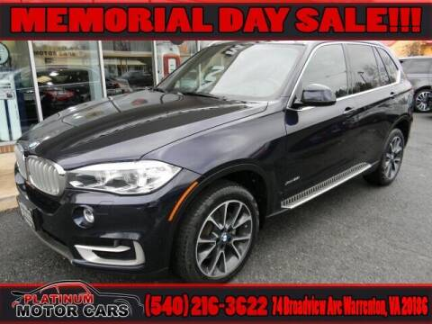 2017 BMW X5 for sale at Platinum Motorcars in Warrenton VA