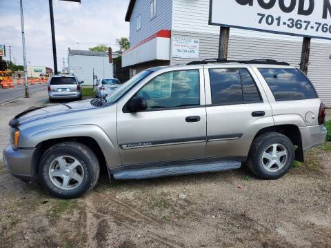 2002 Chevrolet TrailBlazer for sale at GOOD NEWS AUTO SALES in Fargo ND