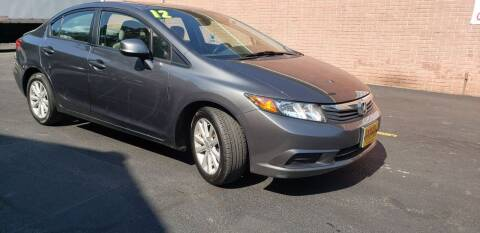 2012 Honda Civic for sale at Exxcel Auto Sales in Ashland MA