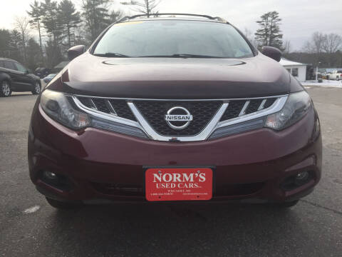 2012 Nissan Murano for sale at NORM'S USED CARS INC in Wiscasset ME
