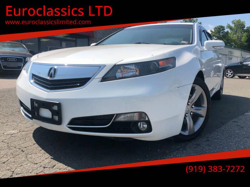 2013 Acura TL for sale at Euroclassics LTD in Durham NC