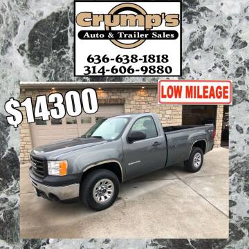 2011 GMC Sierra 1500 for sale at CRUMP'S AUTO & TRAILER SALES in Crystal City MO