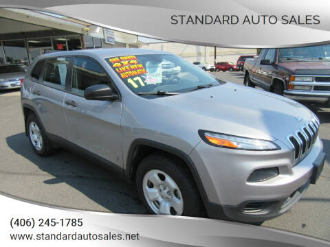 2017 Jeep Cherokee for sale at Standard Auto Sales in Billings MT