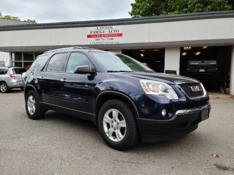 2012 GMC Acadia for sale at Landes Family Auto Sales in Attleboro MA
