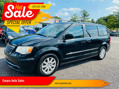 2014 Chrysler Town and Country for sale at Carpro Auto Sales in Chesapeake VA