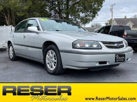 2003 Chevrolet Impala for sale at Reser Motorsales in Urbana OH