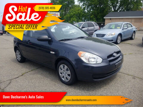 2009 Hyundai Accent for sale at Dave Ducharme's Auto Sales in Lowell MA