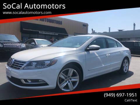 2013 Volkswagen CC for sale at SoCal Automotors in Costa Mesa CA
