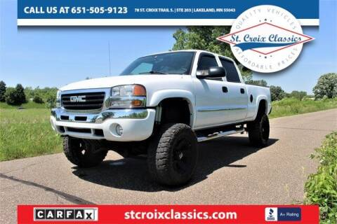 2004 GMC Sierra 2500 for sale at St. Croix Classics in Lakeland MN
