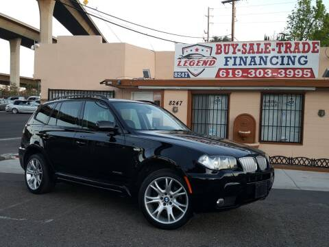 2009 BMW X3 for sale at Legend Auto Sales Inc in Lemon Grove CA