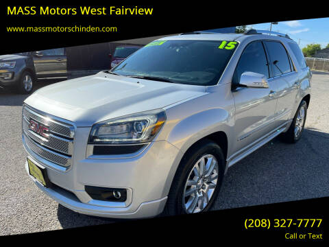 2016 GMC Acadia for sale at MASS Motors West Fairview in Boise ID