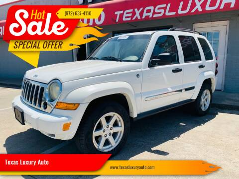 2005 Jeep Liberty for sale at Texas Luxury Auto in Cedar Hill TX