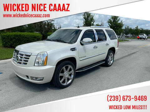 2007 Cadillac Escalade for sale at WICKED NICE CAAAZ in Cape Coral FL