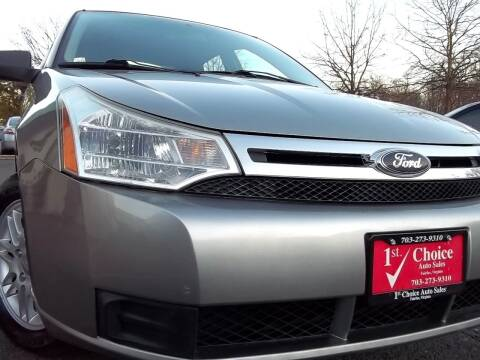 2008 Ford Focus for sale at 1st Choice Auto Sales in Fairfax VA