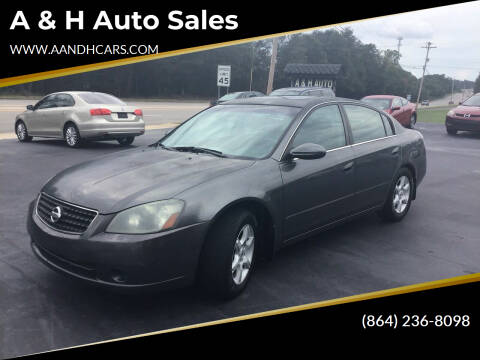 2006 Nissan Altima for sale at A & H Auto Sales in Greenville SC