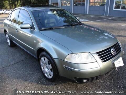 2002 Volkswagen Passat for sale at Autoplex Motors in Lynnwood WA