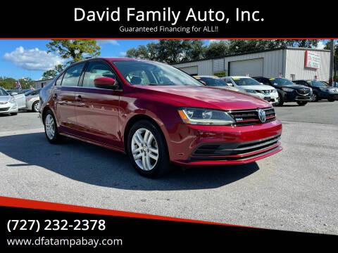2017 Volkswagen Jetta for sale at David Family Auto, Inc. in New Port Richey FL