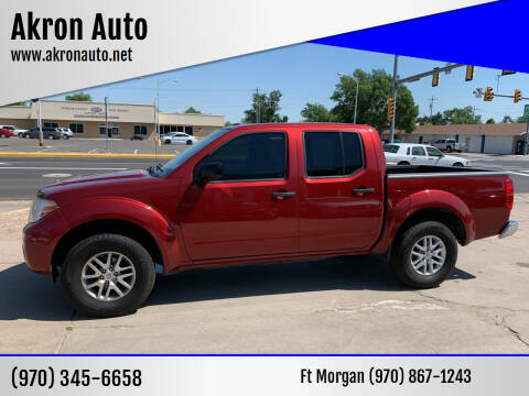 2016 Nissan Frontier for sale at Akron Auto - Fort Morgan in Fort Morgan CO
