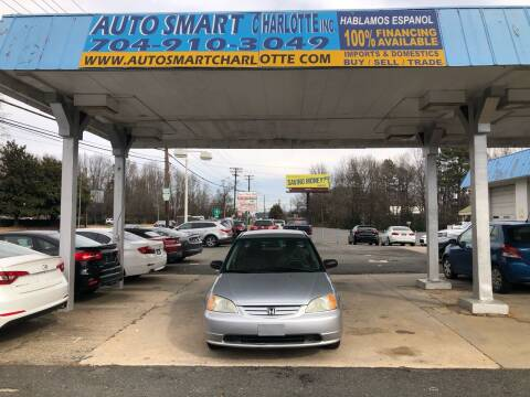 2003 Honda Civic for sale at Auto Smart Charlotte in Charlotte NC