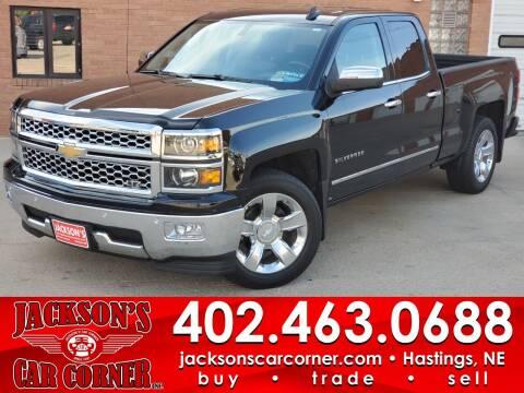 2015 Chevrolet Silverado 1500 for sale at Jacksons Car Corner Inc in Hastings NE