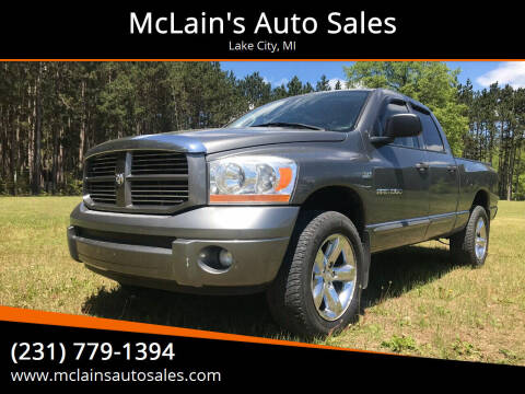 2006 Dodge Ram Pickup 1500 for sale at McLain's Auto Sales in Lake City MI