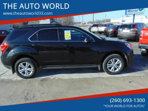 2013 Chevrolet Equinox for sale at THE AUTO WORLD in Churubusco IN
