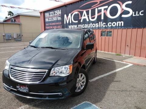2016 Chrysler Town and Country for sale at MC Autos LLC in Pharr TX