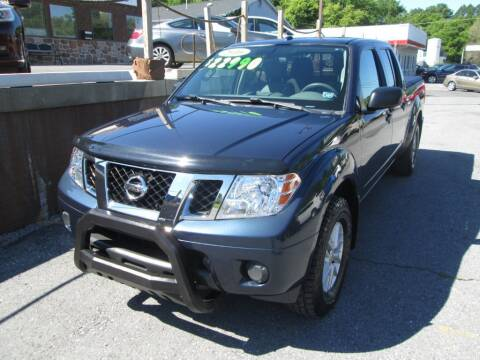 2016 Nissan Frontier for sale at WORKMAN AUTO INC in Pleasant Gap PA