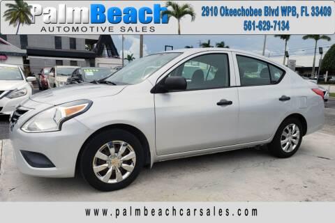 2015 Nissan Versa for sale at Palm Beach Automotive Sales in West Palm Beach FL