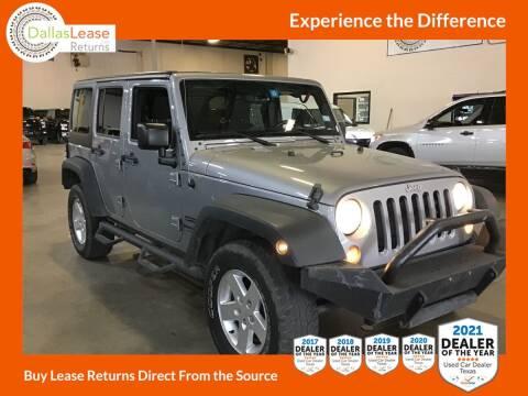 2015 Jeep Wrangler Unlimited for sale at Dallas Auto Finance in Dallas TX