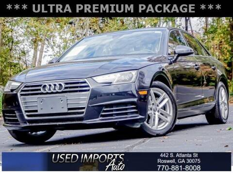 2017 Audi A4 for sale at Used Imports Auto in Roswell GA