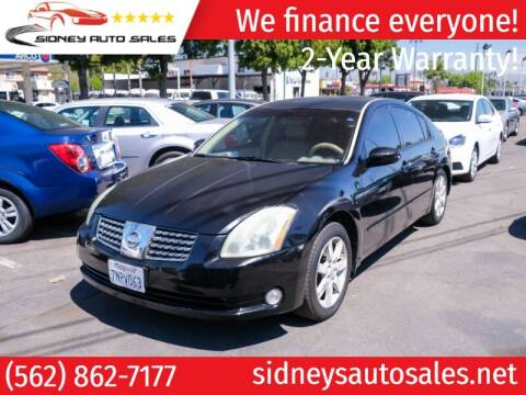 2004 Nissan Maxima for sale at Sidney Auto Sales in Downey CA