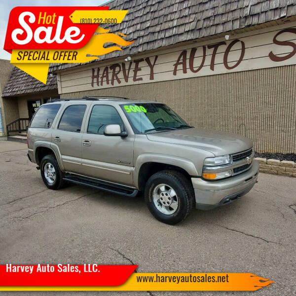 2002 Chevrolet Tahoe for sale at Harvey Auto Sales, LLC. in Flint MI