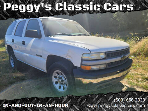 2000 Chevrolet Tahoe for sale at Peggy's Classic Cars in Oregon City OR