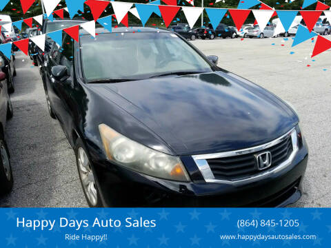 2010 Honda Accord for sale at Happy Days Auto Sales in Piedmont SC