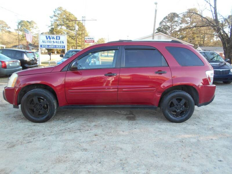 2005 Chevrolet Equinox for sale at W & D Auto Sales in Fayetteville NC