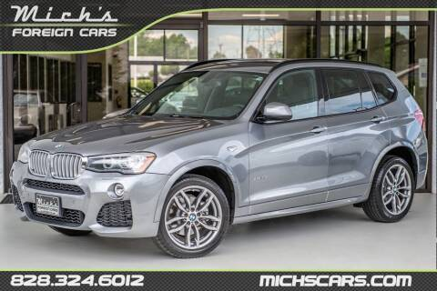 2016 BMW X3 for sale at Mich's Foreign Cars in Hickory NC