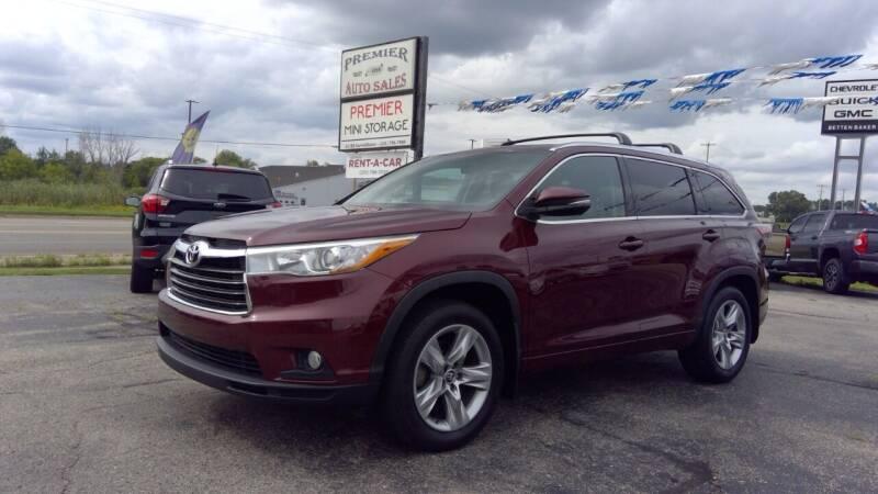 2016 Toyota Highlander for sale at Premier Auto Sales Inc. in Big Rapids MI