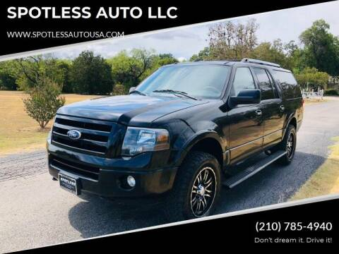 2010 Ford Expedition EL for sale at SPOTLESS AUTO LLC in San Antonio TX