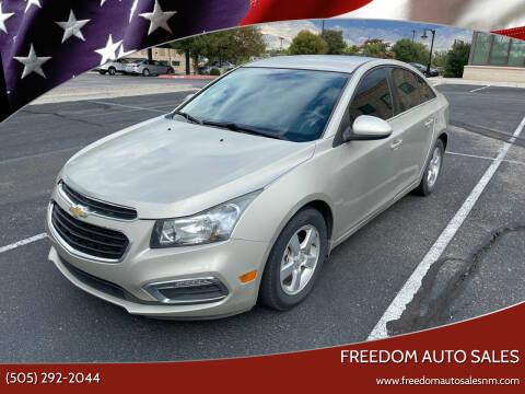 2015 Chevrolet Cruze for sale at Freedom Auto Sales in Albuquerque NM
