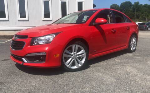 2015 Chevrolet Cruze for sale at Beckham's Used Cars in Milledgeville GA