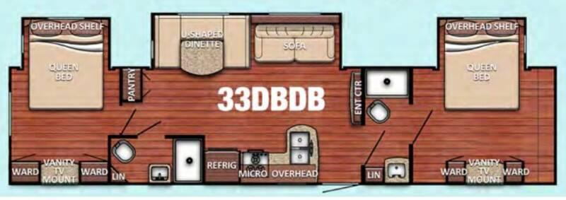 2021 Gulf Stream Conquest 33DBDB Travel Trailers - Princeton NC