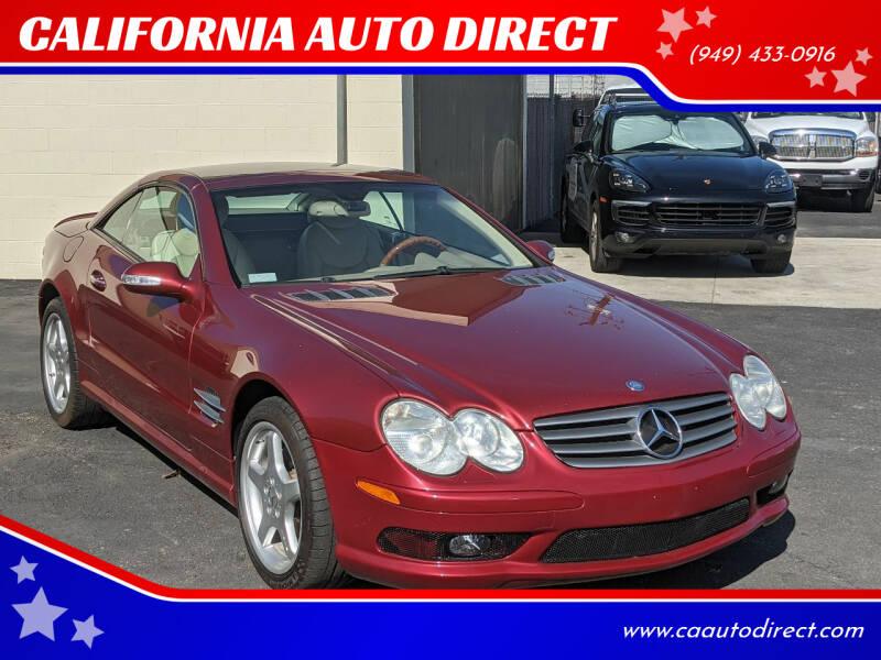 2003 Mercedes-Benz SL-Class for sale at CALIFORNIA AUTO DIRECT in Costa Mesa CA
