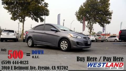 2016 Hyundai Accent for sale at Westland Auto Sales in Fresno CA