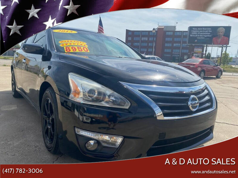 2015 Nissan Altima for sale at A & D Auto Sales in Joplin MO