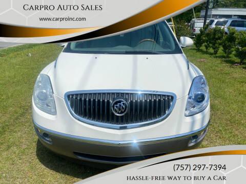 2012 Buick Enclave for sale at Carpro Auto Sales in Chesapeake VA