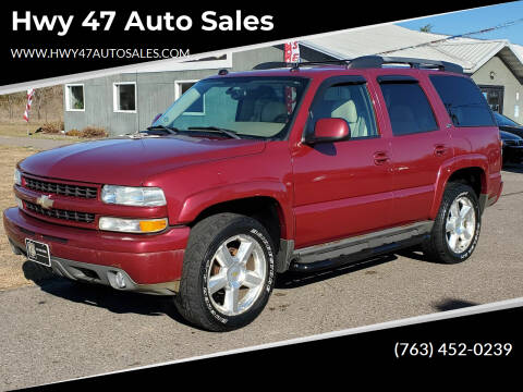 2004 Chevrolet Tahoe for sale at Hwy 47 Auto Sales in Saint Francis MN