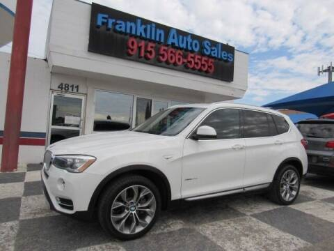2015 BMW X3 for sale at Franklin Auto Sales in El Paso TX