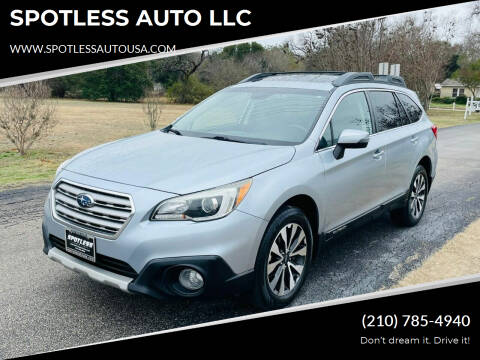 2016 Subaru Outback for sale at SPOTLESS AUTO LLC in San Antonio TX