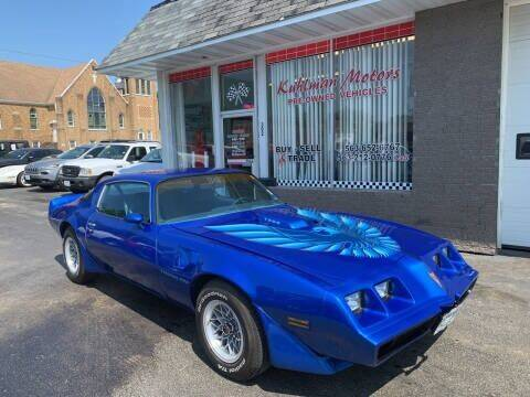 1979 Pontiac Firebird Trans Am for sale at KUHLMAN MOTORS in Maquoketa IA